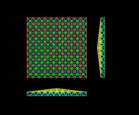 3D3S网架出图用天正CAD添加轴线办法